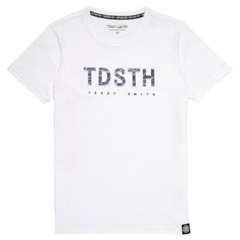 Oblačila Dečki Majice s kratkimi rokavi Teddy Smith T-MAX Bela