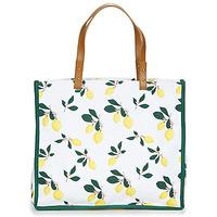 Torbice Ženske Nakupovalne torbe Petite Mendigote CLEA LEMON Bela