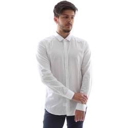 Oblačila Moški Srajce z dolgimi rokavi Gmf FS15 961138/1 Biely