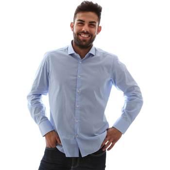 Oblačila Moški Srajce z dolgimi rokavi Gmf 961146/1 Modra
