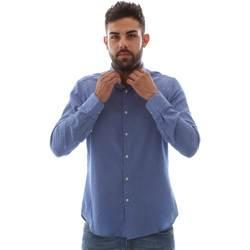 Oblačila Moški Srajce z dolgimi rokavi Gmf 961414/5 Modra