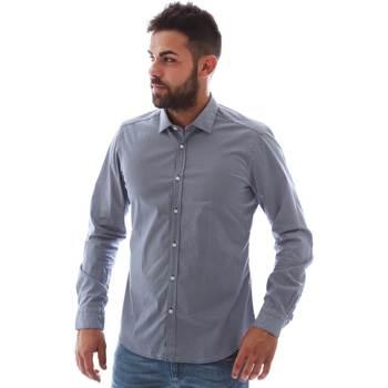 Oblačila Moški Srajce z dolgimi rokavi Gmf 961146/2 Modra