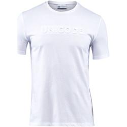 Oblačila Moški Majice s kratkimi rokavi Lumberjack CM60343 001 508 Biely