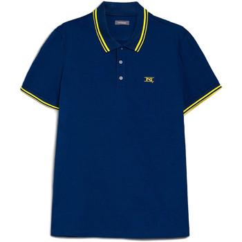 Oblačila Moški Polo majice kratki rokavi NeroGiardini E072370U Modra