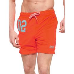 Oblačila Moški Kopalke / Kopalne hlače Superdry M30018AT Oranžna