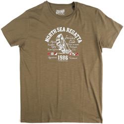 Oblačila Moški Majice s kratkimi rokavi Key Up 2G78S 0001 Zelena