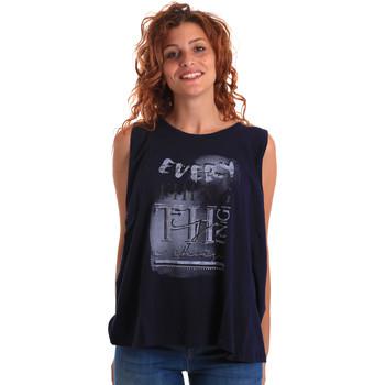 Oblačila Ženske Majice brez rokavov Key Up 5Z14S 0001 Modra