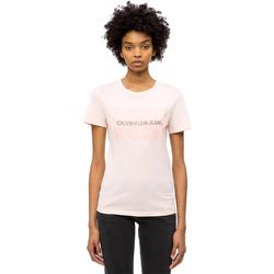 Oblačila Ženske Majice s kratkimi rokavi Calvin Klein Jeans J20J208606 Roza