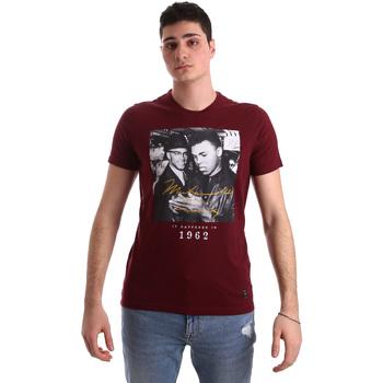 Oblačila Moški Majice s kratkimi rokavi Gaudi 921BU64003 Rdeča
