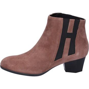 Čevlji  Ženske Gležnjarji Hogan Gležnarji BK699 Rjav