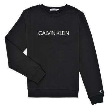 Oblačila Otroci Puloverji Calvin Klein Jeans INSTITUTIONAL LOGO SWEATSHIRT Črna
