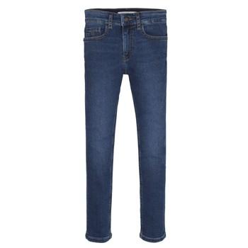 Oblačila Dečki Jeans skinny Calvin Klein Jeans ESSENTIAL ROYAL BLUE STRETCH Modra