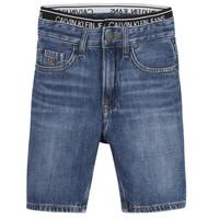 Oblačila Dečki Kratke hlače & Bermuda Calvin Klein Jeans AUTHENTIC LIGHT WEIGHT Modra