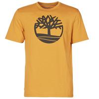 Oblačila Moški Majice s kratkimi rokavi Timberland SS KENNEBEC RIVER BRAND TREE TEE Kamel