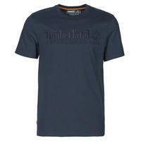 Oblačila Moški Majice s kratkimi rokavi Timberland SS OUTDOOR HERITAGE LINEAR LOGO TEE REGULAR Modra