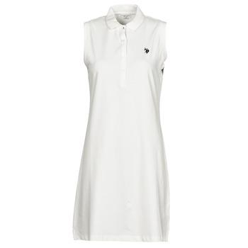 Oblačila Ženske Kratke obleke U.S Polo Assn. AMY DRESS POLO SLEEVELESS Bela