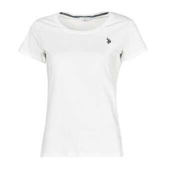 Oblačila Ženske Majice s kratkimi rokavi U.S Polo Assn. BELLA R NECK TEE SS Bela