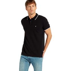 Oblačila Moški Polo majice kratki rokavi Wrangler W7C10K Črna
