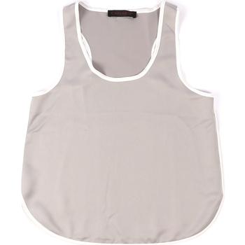 Oblačila Ženske Majice brez rokavov Café Noir JT002 Siva