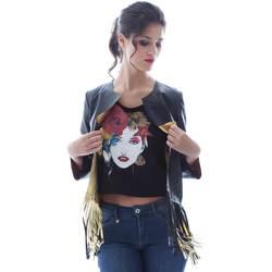 Oblačila Ženske Jakne & Blazerji Grace Shoes DF131 Črna