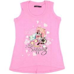 Oblačila Ženske Majice brez rokavov Key Up S88Z 0001 Roza