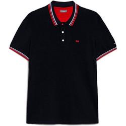 Oblačila Moški Polo majice kratki rokavi NeroGiardini E072390U Modra