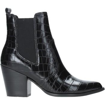 Čevlji  Ženske Gležnjarji Steve Madden SMSPATRICIA-BLKCRO Črna