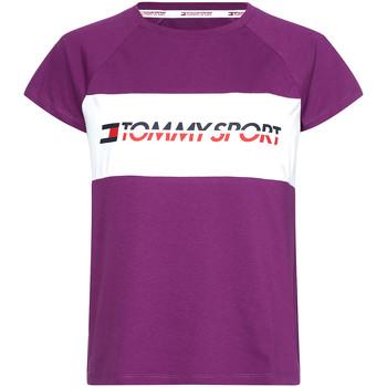 Oblačila Ženske Majice s kratkimi rokavi Tommy Hilfiger S10S100331 Vijolična