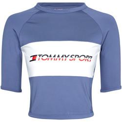 Oblačila Ženske Majice s kratkimi rokavi Tommy Hilfiger S10S100397 Modra