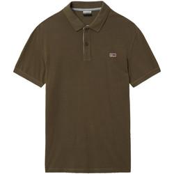 Oblačila Moški Polo majice kratki rokavi Napapijri NP0A4EGD Zelena