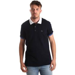 Oblačila Moški Polo majice kratki rokavi NeroGiardini P972240U Modra