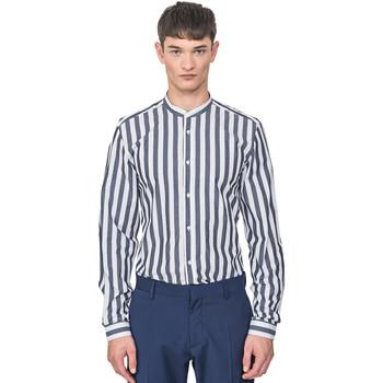Oblačila Moški Srajce z dolgimi rokavi Antony Morato MMSL00604 FA420096 Modra