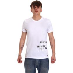 Oblačila Moški Majice s kratkimi rokavi Gaudi 011BU64071 Biely