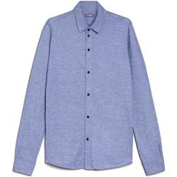 Oblačila Moški Srajce z dolgimi rokavi NeroGiardini E072300U Modra