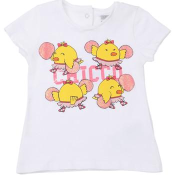 Oblačila Otroci Majice s kratkimi rokavi Chicco 09006955000000 Biely