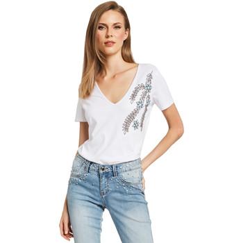 Oblačila Ženske Majice s kratkimi rokavi Gaudi 011BD64017 Biely