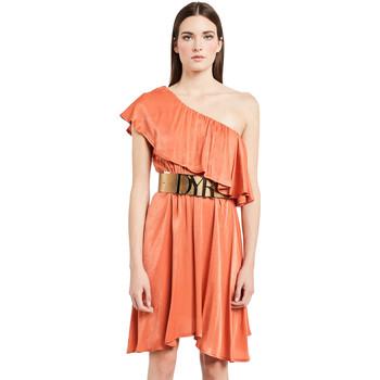 Oblačila Ženske Kratke obleke Denny Rose 011ND15020 Oranžna