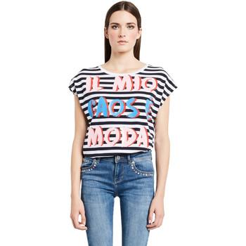 Oblačila Ženske Majice s kratkimi rokavi Denny Rose 011ND64017 Biely
