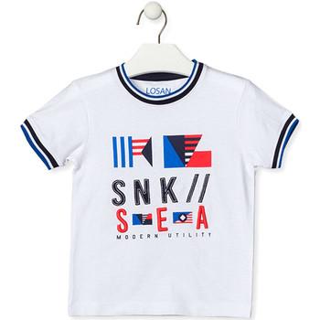 Oblačila Otroci Majice s kratkimi rokavi Losan 015-1000AL Biely