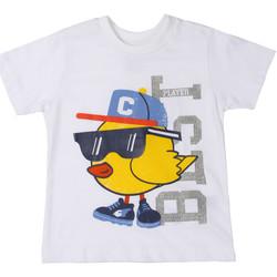 Oblačila Otroci Majice s kratkimi rokavi Chicco 09006918000000 Biely