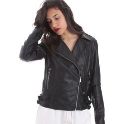 Oblačila Ženske Usnjene jakne & Sintetične jakne Gaudi 011BD38006 Črna
