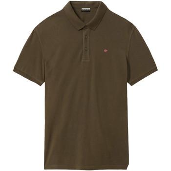 Oblačila Moški Polo majice kratki rokavi Napapijri NP0A4E2M Zelena
