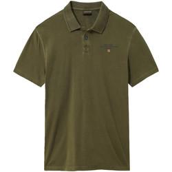 Oblačila Moški Polo majice kratki rokavi Napapijri NP0A4E2L Zelena