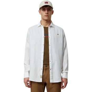 Oblačila Moški Srajce z dolgimi rokavi Napapijri NP000IL7 Biely