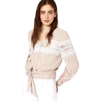 Oblačila Ženske Topi & Bluze Liu Jo FA0183 T4169 Bež