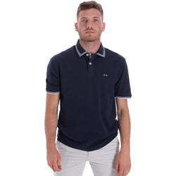 Oblačila Moški Polo majice kratki rokavi Les Copains 9U9020 Modra