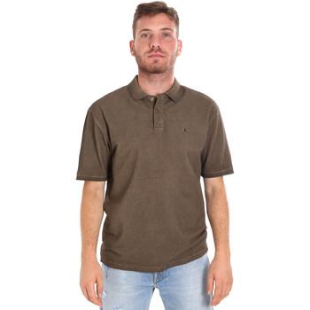 Oblačila Moški Polo majice kratki rokavi Les Copains 9U9016 Rjav