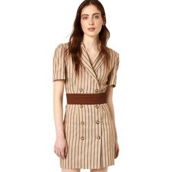 Oblačila Ženske Kratke obleke Liu Jo FA0213 T4197 Bež
