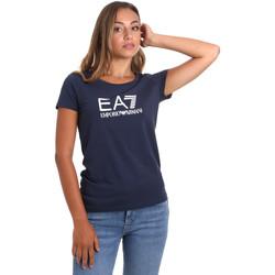Oblačila Ženske Majice s kratkimi rokavi Ea7 Emporio Armani 8NTT63 TJ12Z Modra