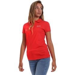 Oblačila Ženske Polo majice kratki rokavi Ea7 Emporio Armani 3HTF57 TJ29Z Rdeča